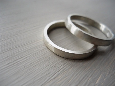 Wedding bands set wedding band wedding rings set mens ring unisex ring Matte