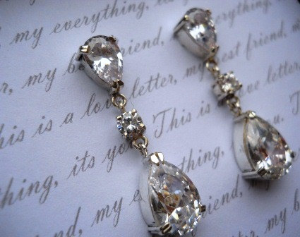 drop earrings tear drop earrings bridal earrings tear earrings wedding jewelry bridal