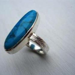 turquoise ring oval turquoise silver ring
