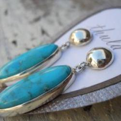 Turquoise earrings studs