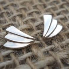 stylish silver studs